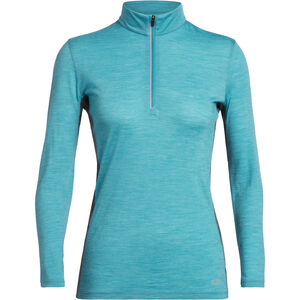 Icebreaker Amplify Langarm Half Zip Shirt Damen arctic teal heather/nightfall heather arctic teal heather/nightfall heather