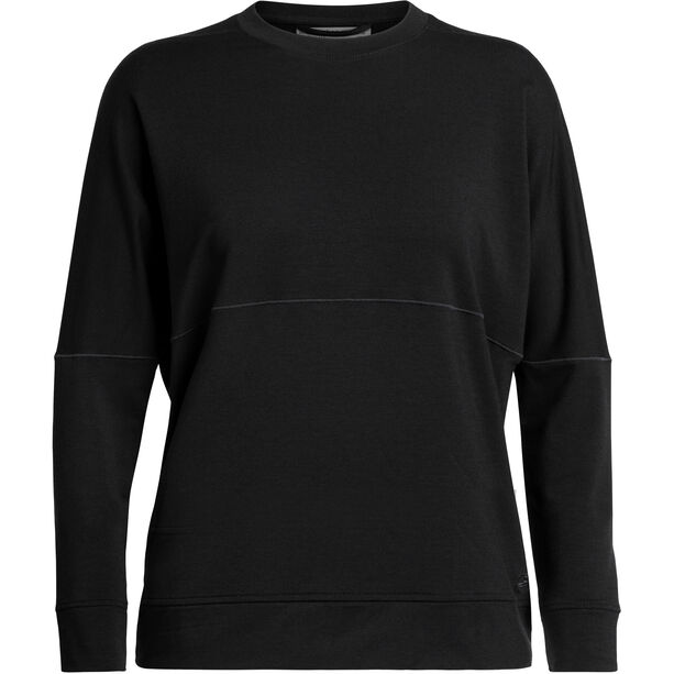 Icebreaker Momentum Langarm Rundhalsshirt Damen black