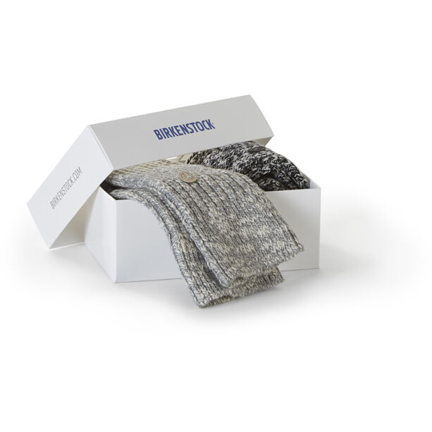 Birkenstock X-MAS Slub Socken 2er Pack Herren schwarz grau