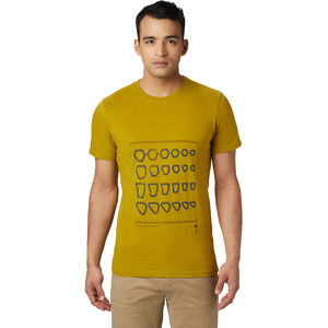 Mountain Hardwear Refer to Real Life Kurzarm T-Shirt Herren dark citron dark citron