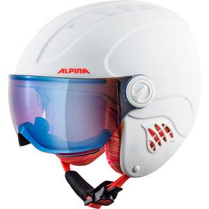 Alpina Carat LE Visor HM Helmet Kinder white-flame matt white-flame matt