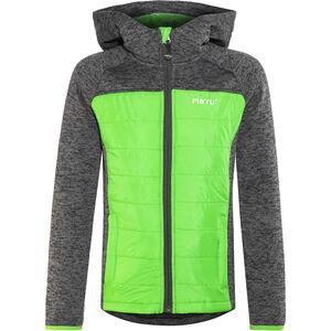 Meru Prag Gefütterte Strickfleece Jacke Kinder carbon/green carbon/green