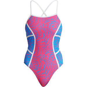 Funkita Colour Block One Piece Badeanzug Damen in the cloud in the cloud