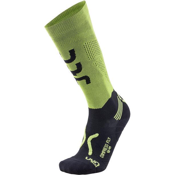 UYN Run Compression Fly Socks Herren acid green/black