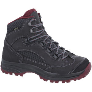 Hanwag Banks II Wide GTX Shoes Damen asphalt/dark garnet asphalt/dark garnet