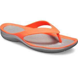 Crocs Swiftwater Flip Sandals Damen bright coral/light grey bright coral/light grey