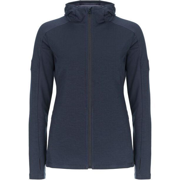super.natural Motion Zip Hood Damen blue black