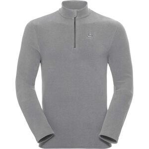 Odlo Roy 1/2 Zip Midlayer Herren platinum grey-odlo steel grey-stripes platinum grey-odlo steel grey-stripes