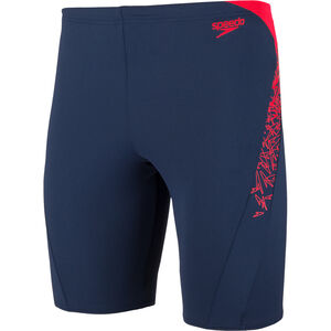 speedo Boom Splice Jammers Herren navy/lava red navy/lava red