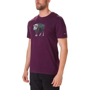 Columbia Muir Pass Kurzarm Graphic T-Shirt Herren black cherry/buffalo camo black cherry/buffalo camo