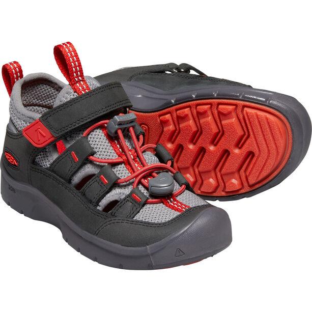 Keen Hikeport Vent Shoes Kinder raven/firey red