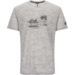 super.natural Graphic T-Shirt Herren ash melange/killer khaki beach print
