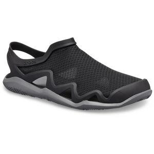 Crocs Swiftwater Mesh Wave Sandals Herren black/slate grey black/slate grey