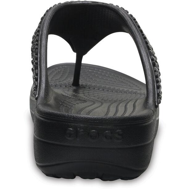 Crocs Sloane Embellished Flips Damen black/black
