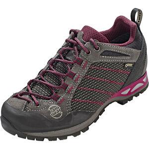 Hanwag Makra Low GTX Shoes Damen asphalt/dark garnet asphalt/dark garnet