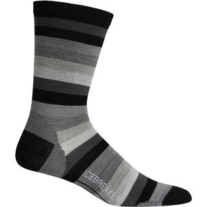 Icebreaker Lifestyle Ultralight Crew Stripe Socken Herren black black