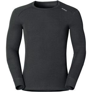 Odlo Warm Shirt LS Crew Neck Herren black black
