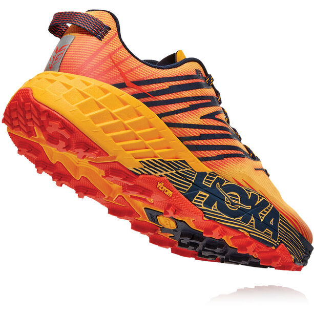 Hoka One One Speedgoat 4 Schuhe Herren gold fusion/black iris