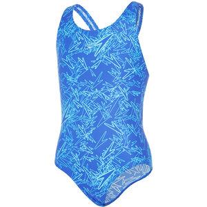 speedo Boom Allover Splashback Swimsuit Mädchen amparo blue/turquoise amparo blue/turquoise
