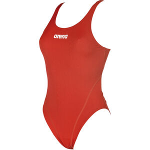 arena Solid Swim Tech High One Piece Swimsuit Damen red-white red-white