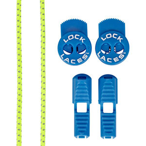 Lock Laces Run Laces Reflective safety yellow/electric blue safety yellow/electric blue