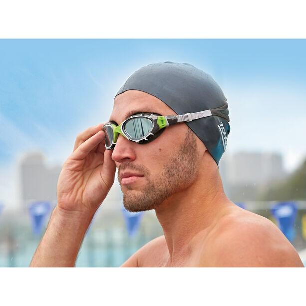 Zoggs Predator Flex Goggles Titanium grey/green/mirror