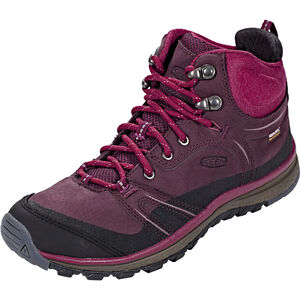 Keen Terradora Leather WP Mid Shoes Damen wine/rododendron wine/rododendron