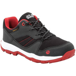 Jack Wolfskin MNT Attack 3 XT Texapore Low Schuhe Kinder black/red black/red