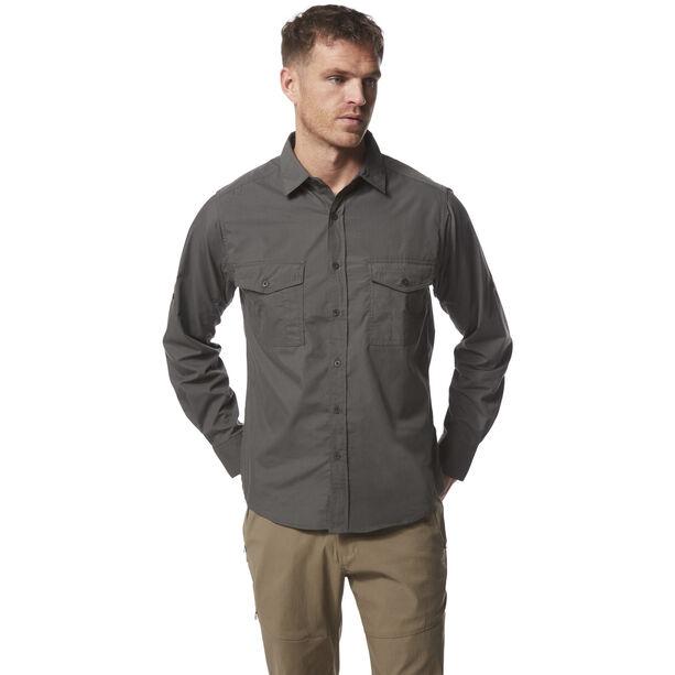 Craghoppers Kiwi Longsleeved Shirt Herren dark grey
