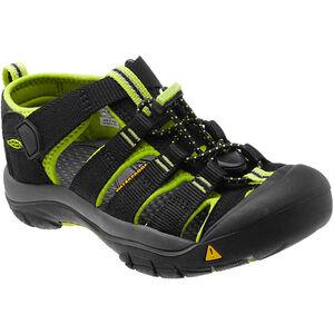 Keen Newport H2 Sandals Kinder black/lime green black/lime green