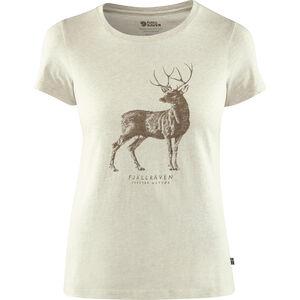 Fjällräven Deer Print T-Shirt Damen limestone limestone