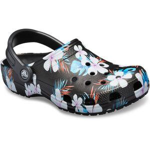 Crocs Classic Seasonal Graphic Clogs black/floral black/floral