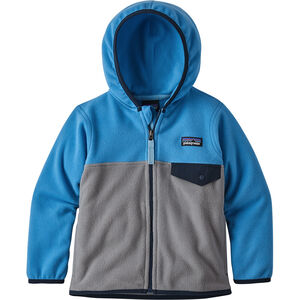 Patagonia Micro D Snap-T Jacket Kinder feather grey with port blue feather grey with port blue
