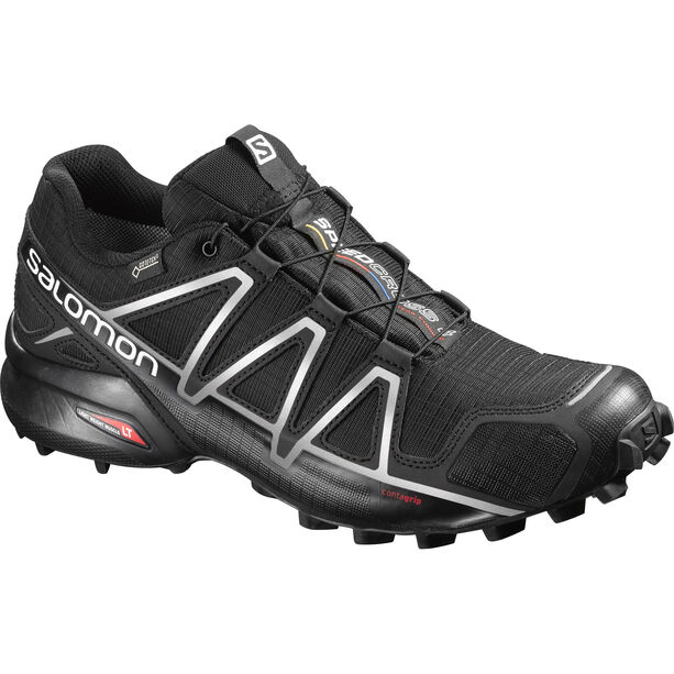 Salomon Speedcross 4 GTX Shoes Herren black/black/silver metallic-x