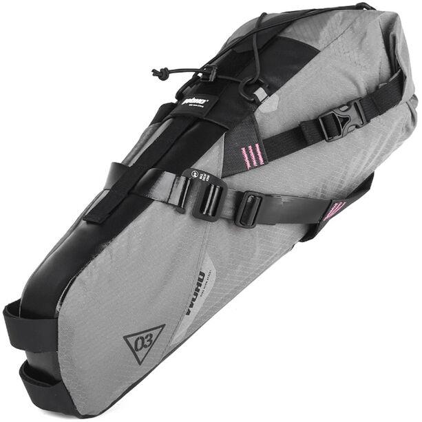 WOHO X-Touring Saddle Dry Bag M honeycomb iron grey