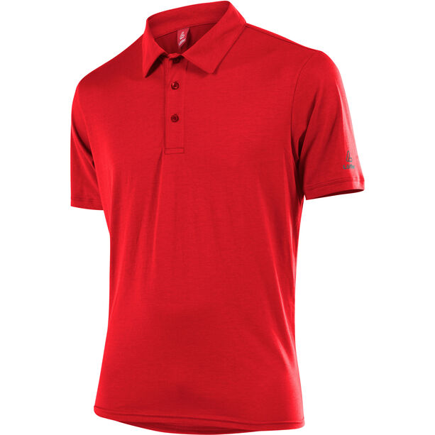 Löffler Transtex Single CF Poloshirt Herren rot