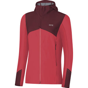 GORE WEAR R3 Windstopper Hooded Jacket Damen hibiscus pink/chestnut red hibiscus pink/chestnut red