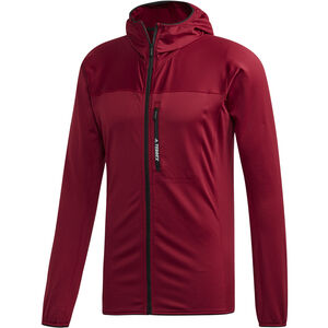 adidas TERREX TraceRocker Hooded Fleece Jacket Herren collegiate burgundy collegiate burgundy
