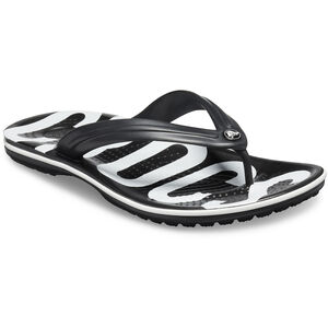 Crocs Crocband Printed Flips black/white black/white