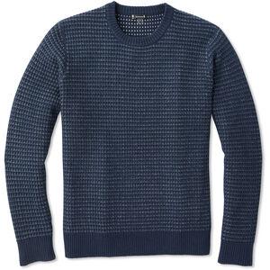 Smartwool Ripple Ridge Tick Stitch Rundhals-Sweater Herren deep navy heather deep navy heather