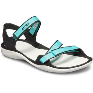Crocs Swiftwater Webbing Sandals Damen pool/white pool/white