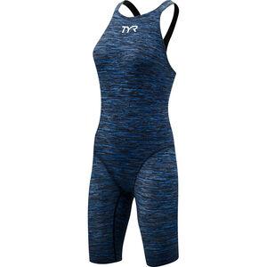TYR Thresher Baja Open Back Swimsuit Damen blue blue