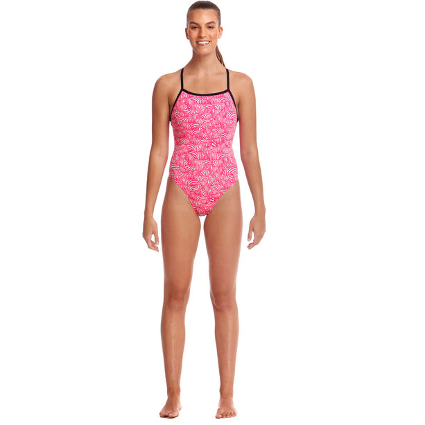 Funkita Eco Tie Me Tight One Piece Badeanzug Damen painted pink