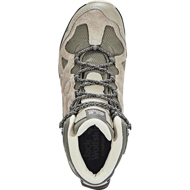 Jack Wolfskin Rocksand Texapore Mid-Cut Schuhe Damen siltstone