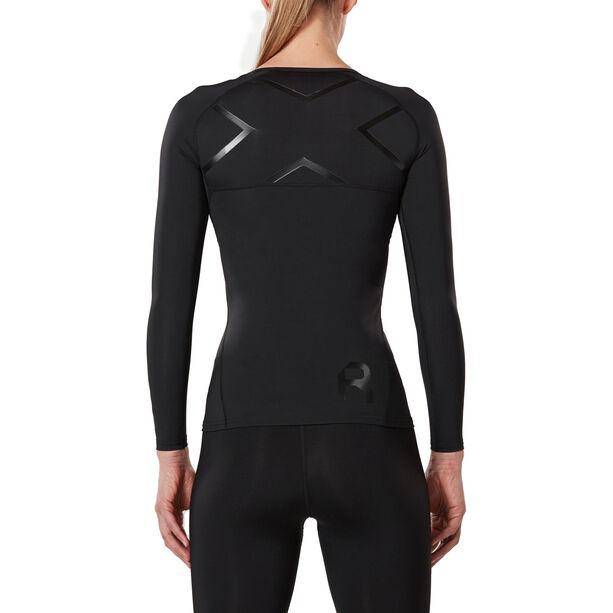 2XU Refresh Recovery Compression Longsleeve Shirt Damen black/nero
