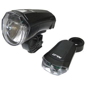 XLC CL-S14 LED Batterieleuchten Set schwarz schwarz