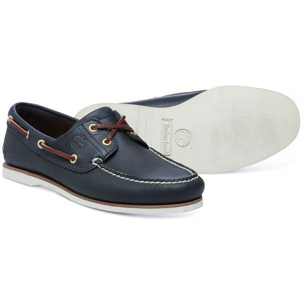 Timberland Classic 2-Eye Boat Shoes Herren medium blue full grain