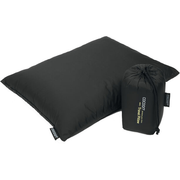 Cocoon Travel Pillow Down Fill 33x43cm charcoal