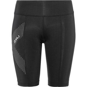 2XU Mid-Rise Compression Shorts Damen black/dotted reflective logo black/dotted reflective logo