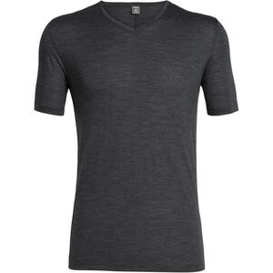 Icebreaker Solace Kurzarm V-Ausschnitt Shirt Herren black heather black heather